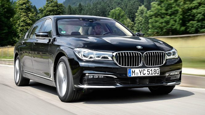 BMW 740e car range