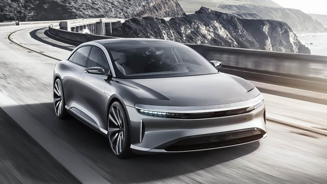 Lucid Air car range