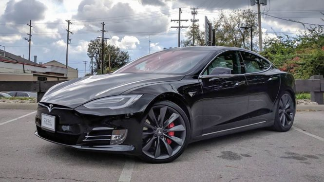 Tesla Model S P100D car range