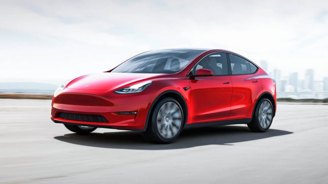 Tesla Model Y Long Range car range